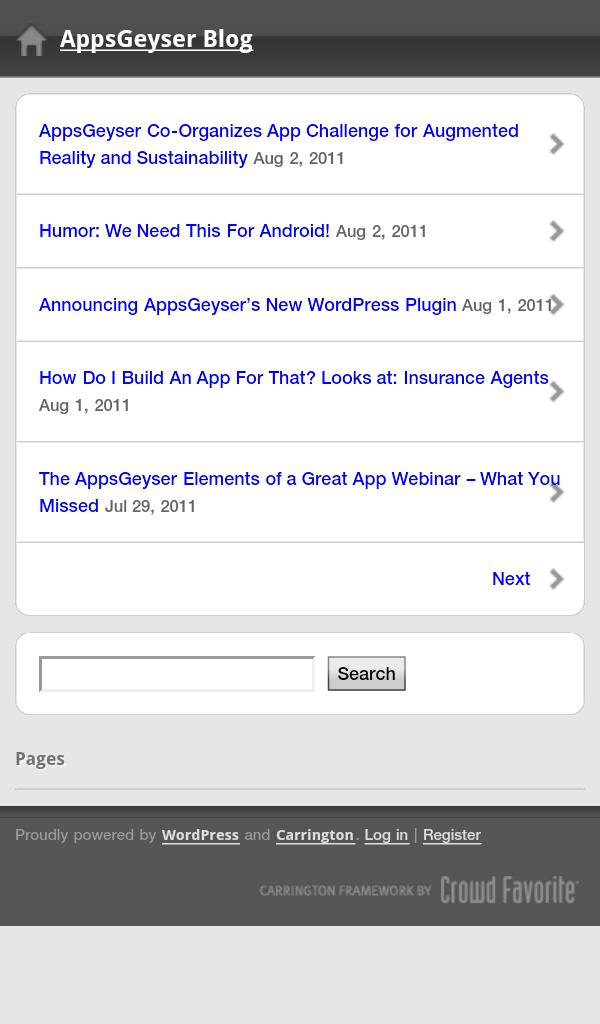 use blog wordpress app