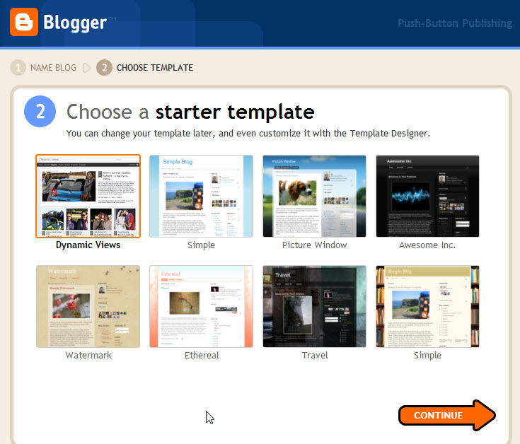 Choose template appsgeyser for How to create blogspot template