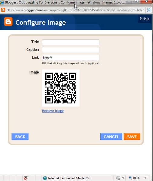 add a picture to blog app template