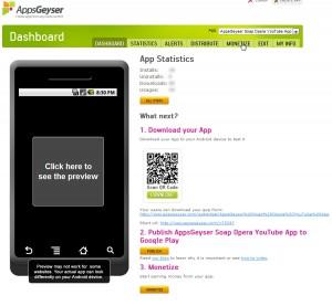 Monetize an AppsGeyser app