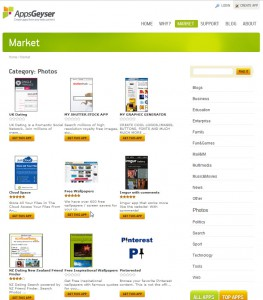 Appsgeyser's free Android App Market
