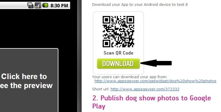 Create an Android App from Scratch – Step 4: Publish my App
