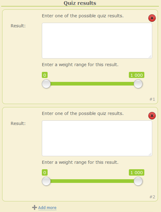 Calculate the results. 4 personalities split between the possible number of questions