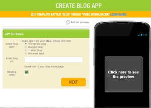 Create Android app blog