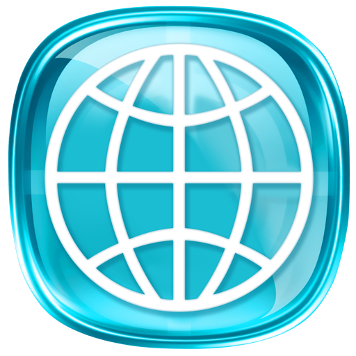 Blue icon for browser app