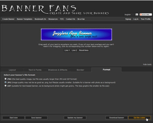 get banner code bannerfans