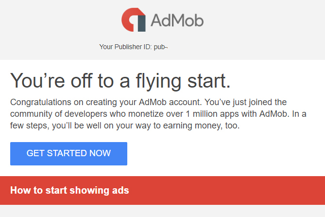 get started with AdMob