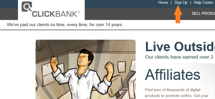 sigh up to clickbank