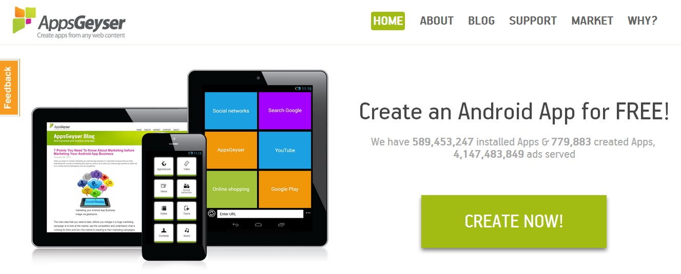 create android app for free