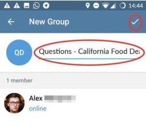 name your telegram group