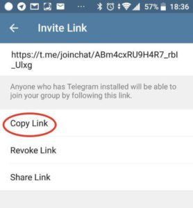 copy the group link and share it