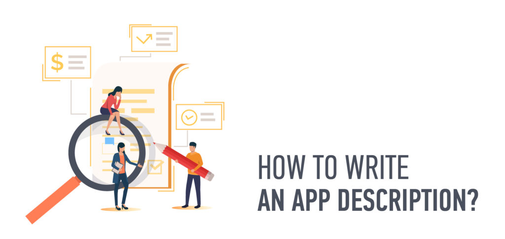 how to write app description