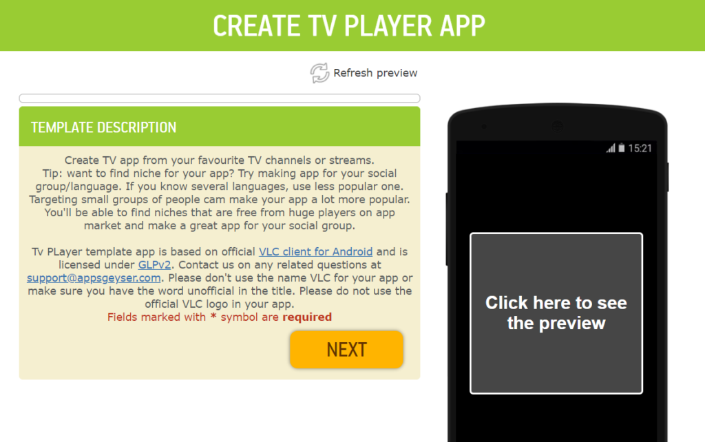 create android tv app