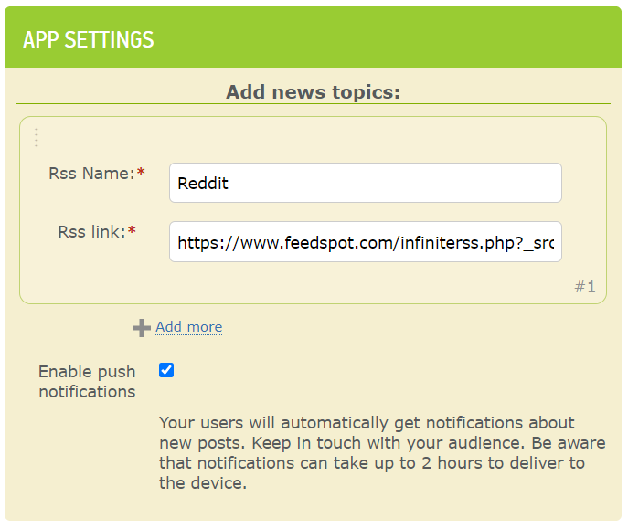 make rss feed app