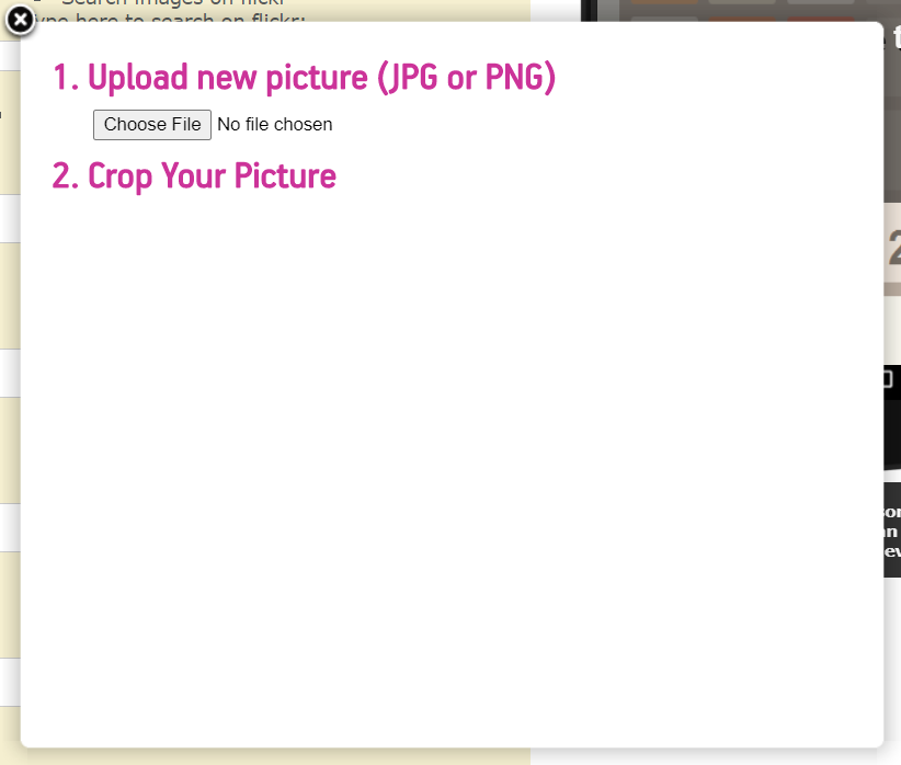 upload images to your 2048 app