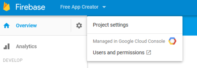 set your project for app notifications