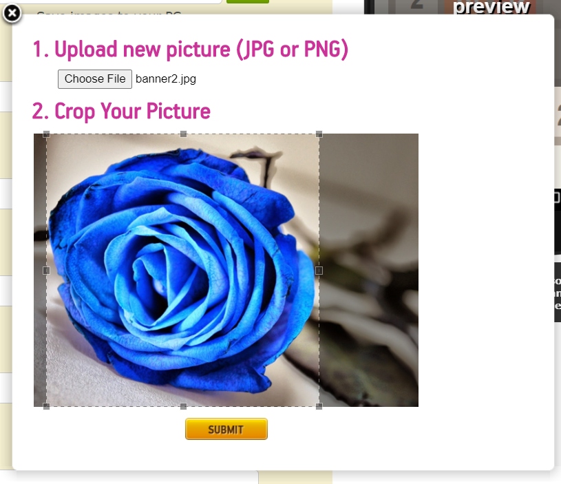 crop and customize the image of your 2048 app