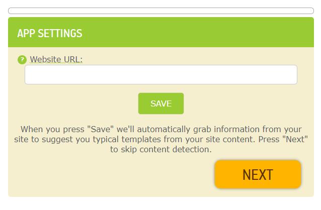 insert URL to make a website app