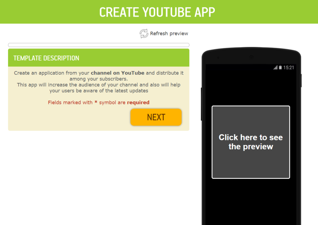 create YouTube Channel App