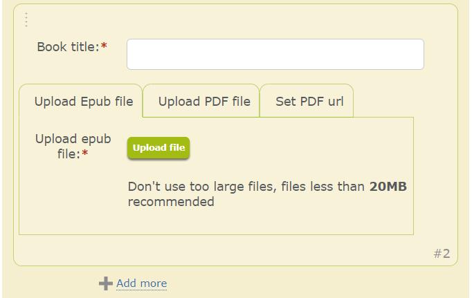 upload ebook files