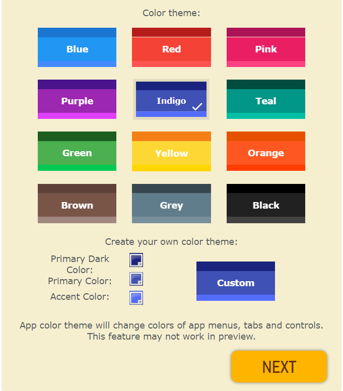 customize the app