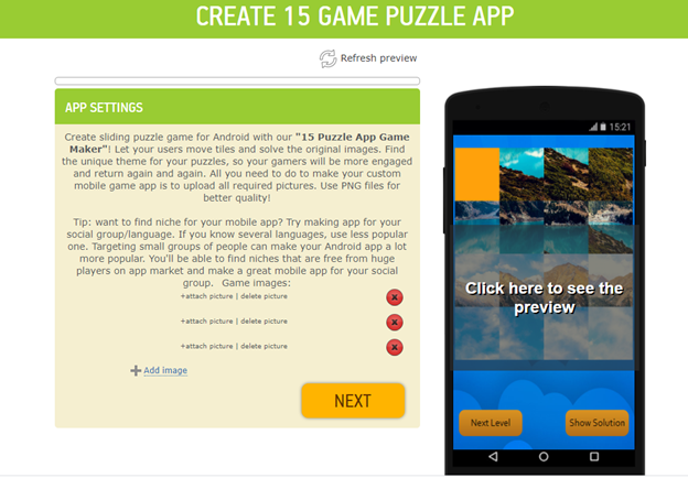 Open Android 15 Puzzle Game Template and customize it