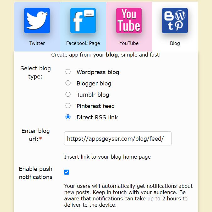 add social media tabs to the website app