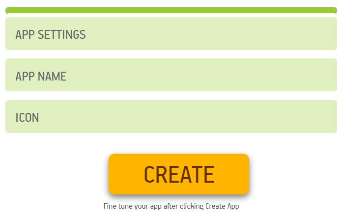 create website app