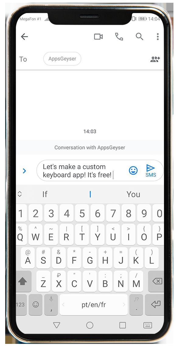 make custom photo keyboard app