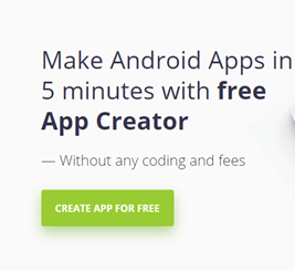 open AppsGeyser to make an app by yourself