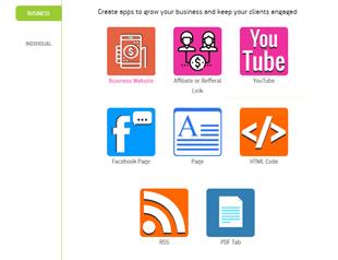 Choose the website app template