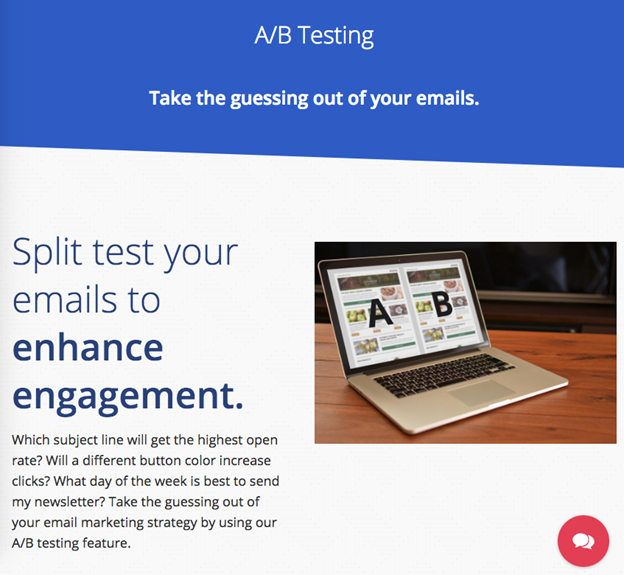 test email app audience