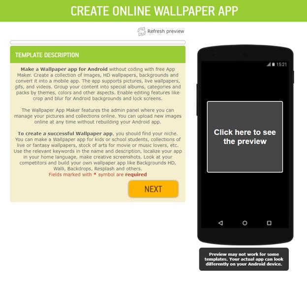 wallpaper app template