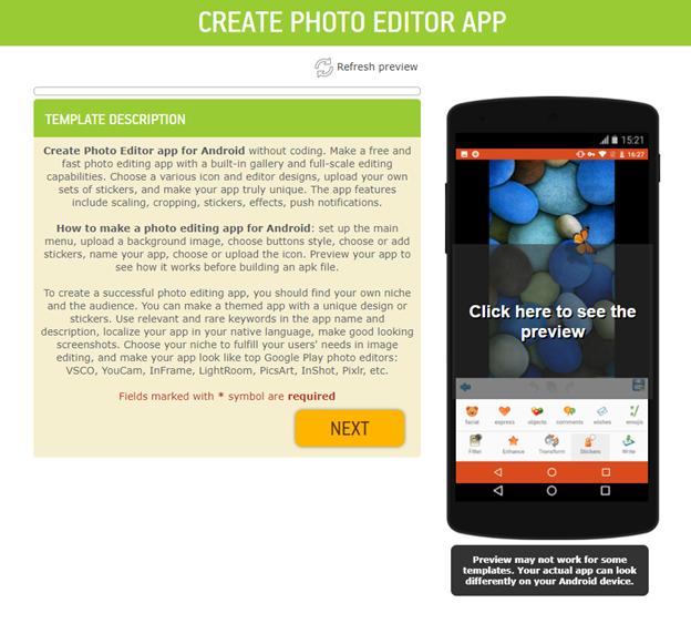photo editor app template