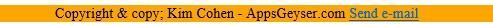 html app footer