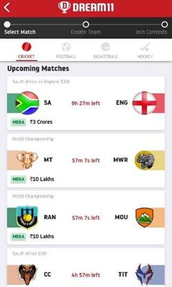 dream 11 live match score