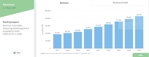 video subscription revenue